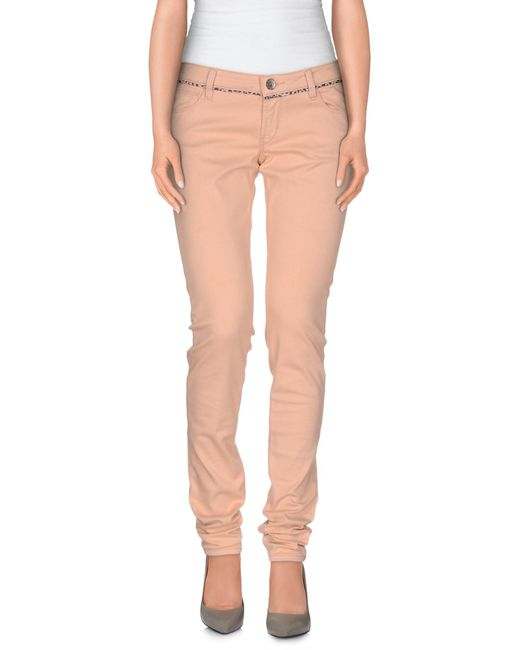 Guess - Pink Casual Trouser - Lyst