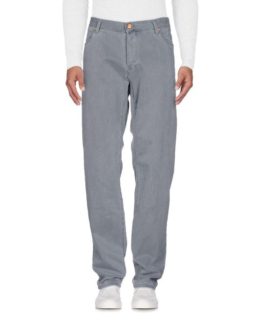 Jeckerson - Gray Denim Pants for Men - Lyst