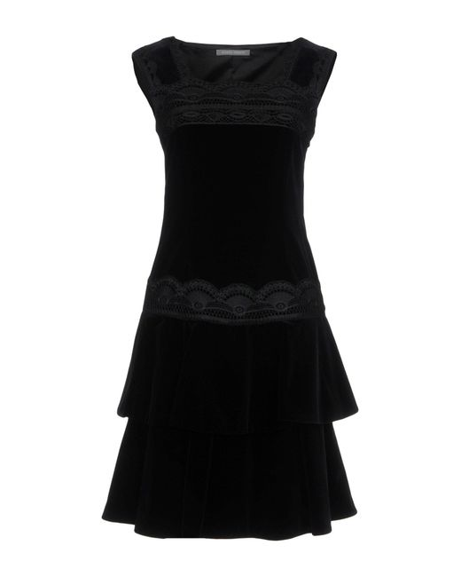Alberta Ferretti - Black Short Dresses - Lyst