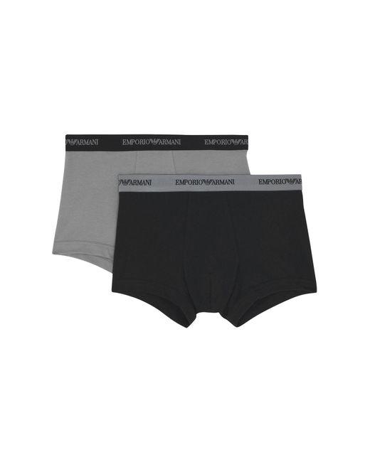 Emporio Armani - Black Boxer for Men - Lyst