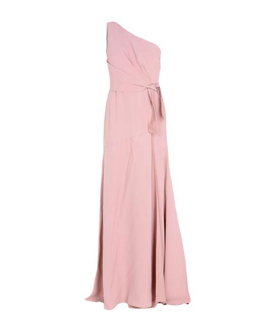 Alberta Ferretti - Pink Long Dress - Lyst