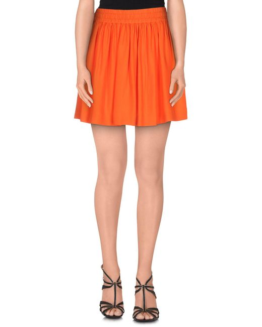 RED Valentino - Orange Mini Skirts - Lyst