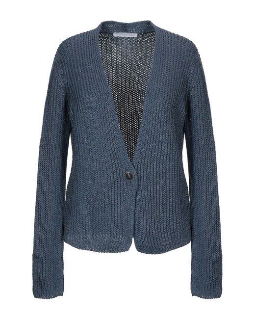 Fabiana Filippi - Women's Blue Cotton Cardigan - Lyst