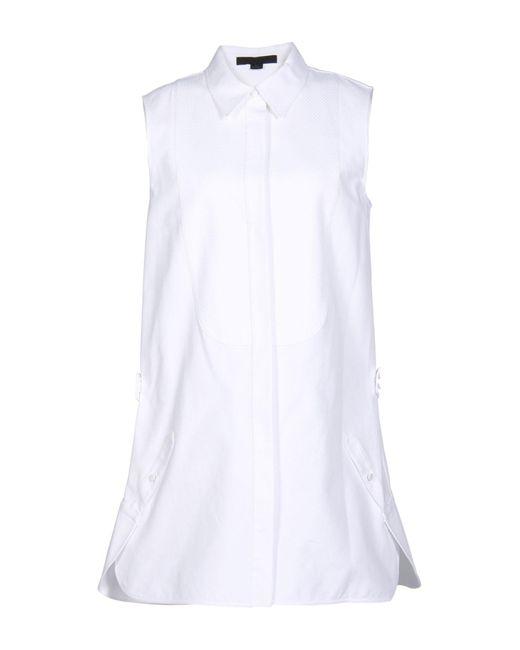 Alexander Wang White Short Dress