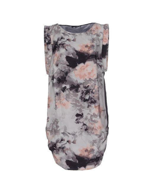 Liu Jo - Gray Short Dress - Lyst
