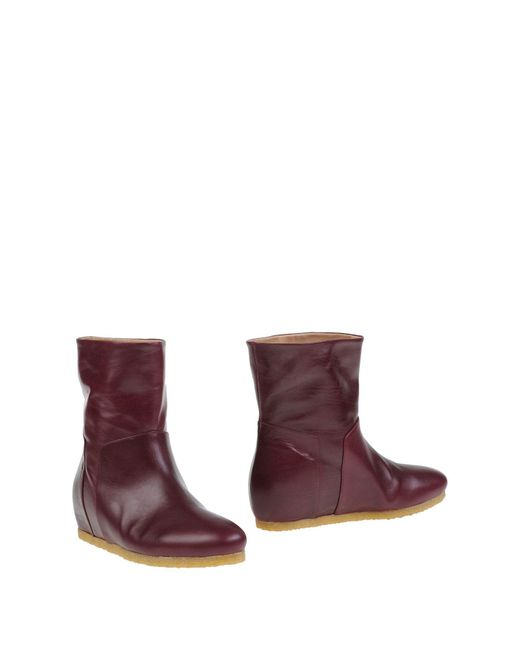 Roberto Del Carlo - Purple Ankle Boots - Lyst