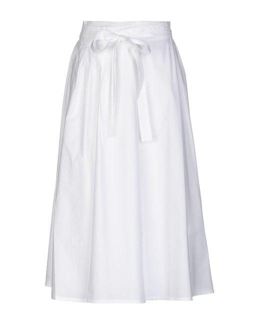 0fb617d54 Roberto Collina - White 3/4 Length Skirt - Lyst ...