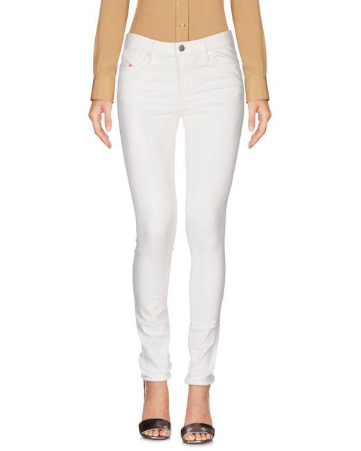 DIESEL - White Casual Pants - Lyst