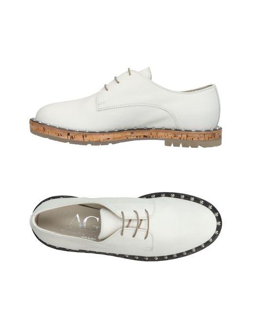 Agl Attilio Giusti Leombruni - White Lace-up Shoes - Lyst