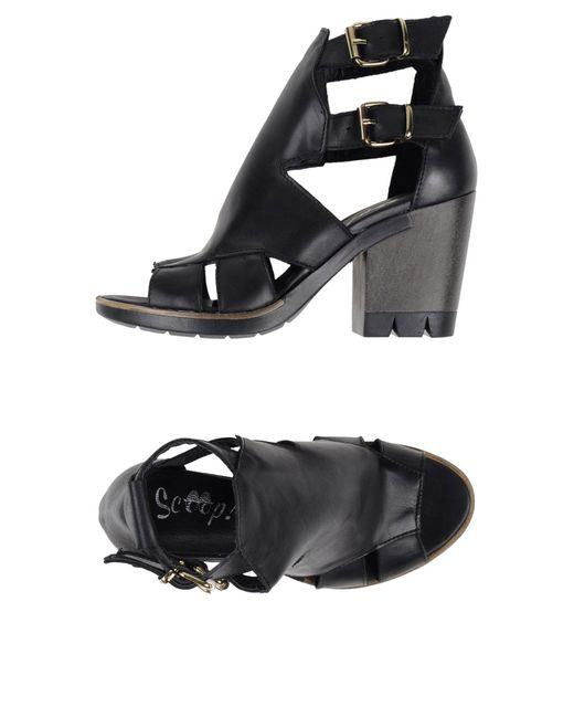 Scoop - Black Sandals - Lyst
