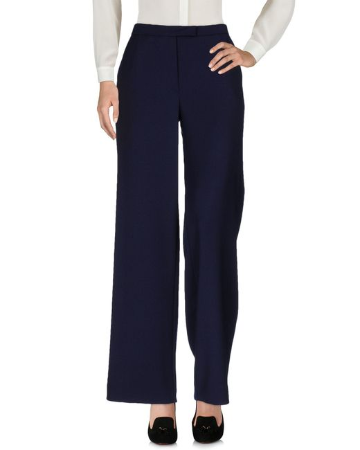 OSMAN - Blue Casual Trouser - Lyst