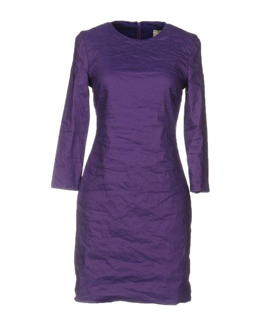 Nicole Miller Artelier - Purple Short Dresses - Lyst
