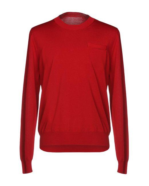 Maison Margiela - Red Sweater for Men - Lyst