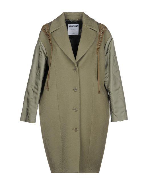 Moschino - Green Overcoat - Lyst