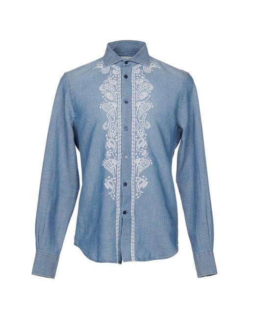 Ermanno Scervino - Blue Denim Shirt for Men - Lyst