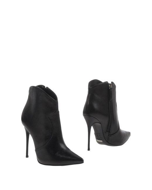 Schutz - Black Ankle Boots - Lyst