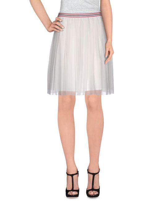 Roberto Collina - White Knee Length Skirt - Lyst