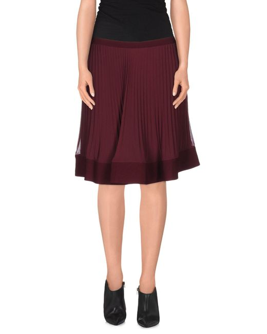 Philosophy di Alberta Ferretti - Purple Knee Length Skirt - Lyst