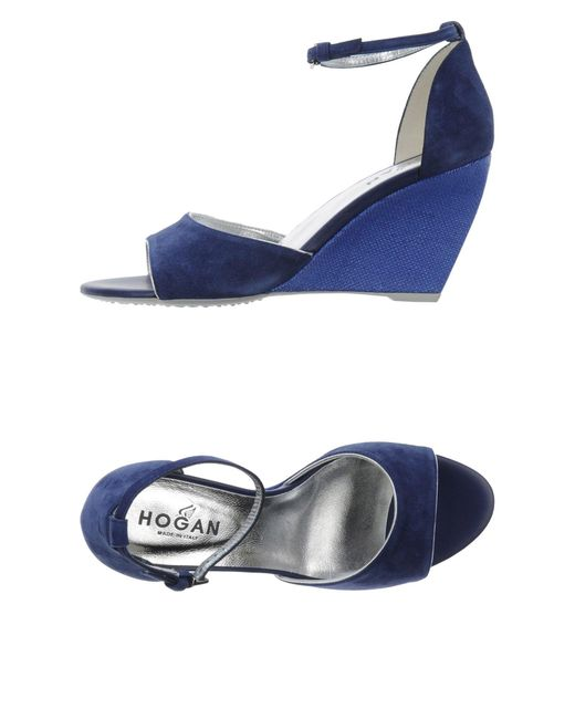 Hogan - Blue Sandals - Lyst
