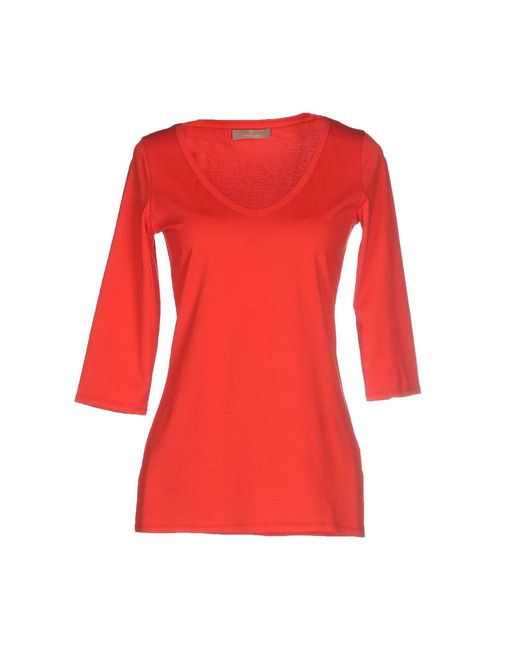 Cruciani - Red T-shirt - Lyst