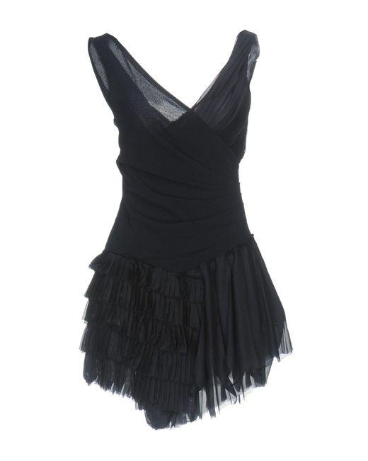 Dondup - Blue Short Dresses - Lyst