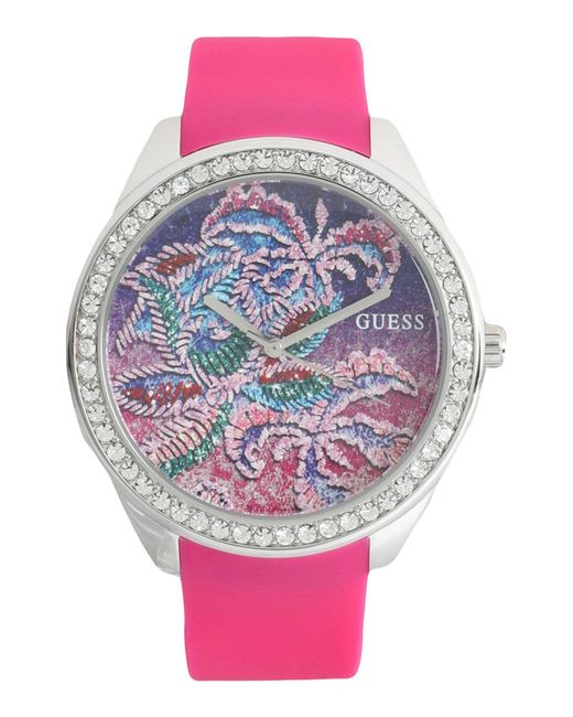 Guess | Pink Wrist Watch | Lyst