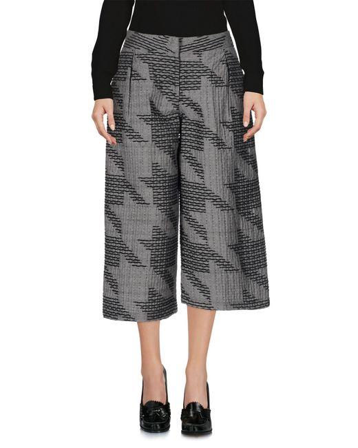Jijil - Gray 3/4-length Trousers - Lyst