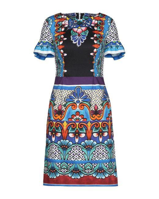 Alberta Ferretti - Blue Short Dresses - Lyst