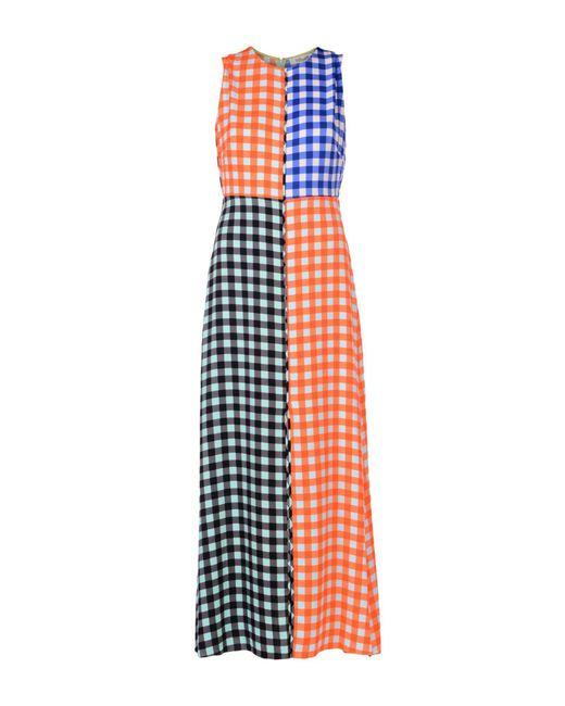 Diane von Furstenberg - Orange Long Dresses - Lyst