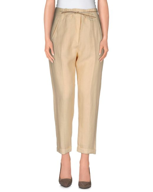 Twin Set - Brown 3/4-length Trousers - Lyst