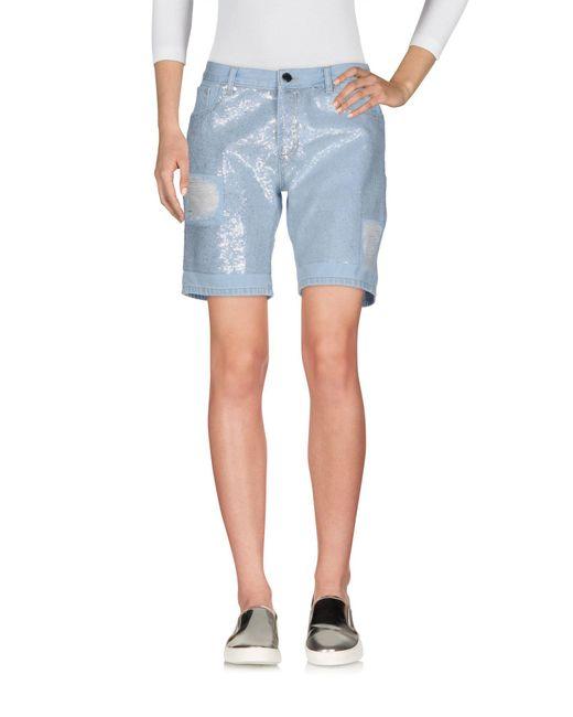 Relish - Blue Denim Shorts - Lyst