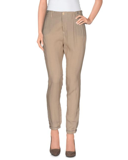 Jfour - Natural Casual Pants - Lyst