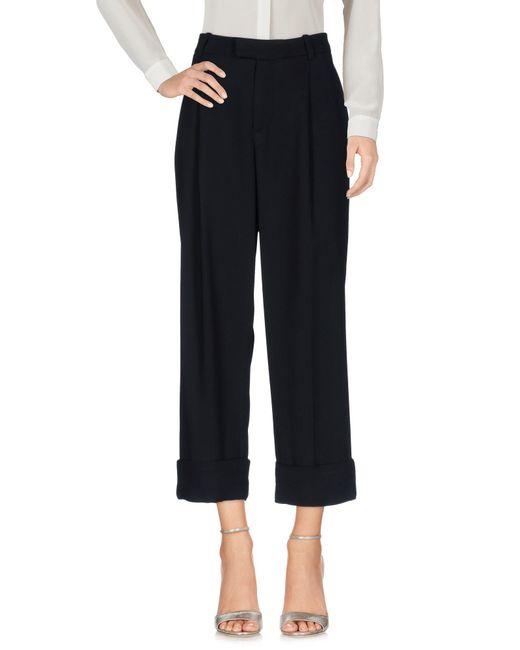 Malloni - Black 3/4-length Trousers - Lyst