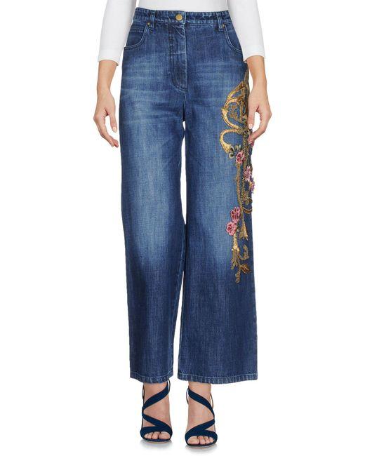 Alberta Ferretti - Blue Denim Trousers - Lyst