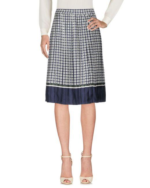 Tory Burch - Blue 3/4 Length Skirt - Lyst
