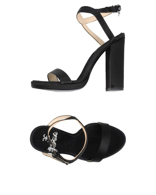 Fabi - Black Sandals - Lyst