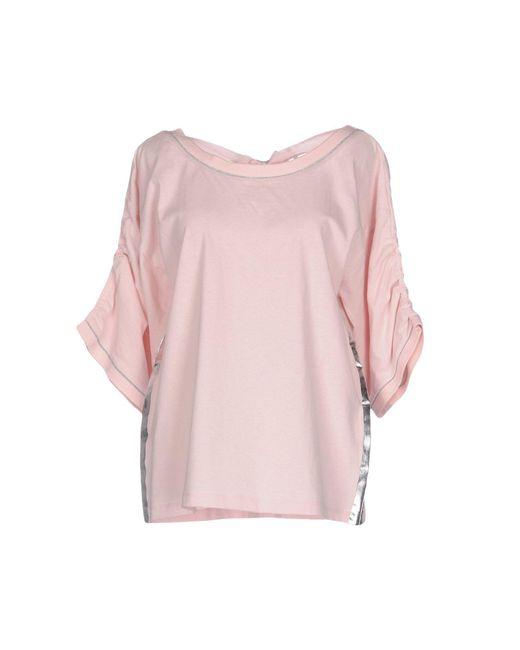Pinko - Pink T-shirt - Lyst
