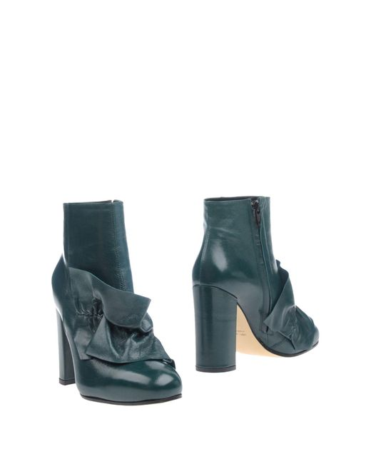 Suoli - Green Ankle Boots - Lyst