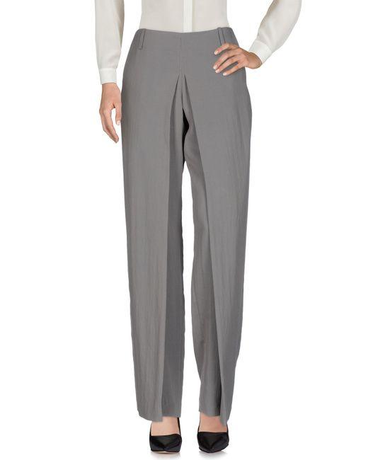 Malloni   Gray Casual Trouser   Lyst