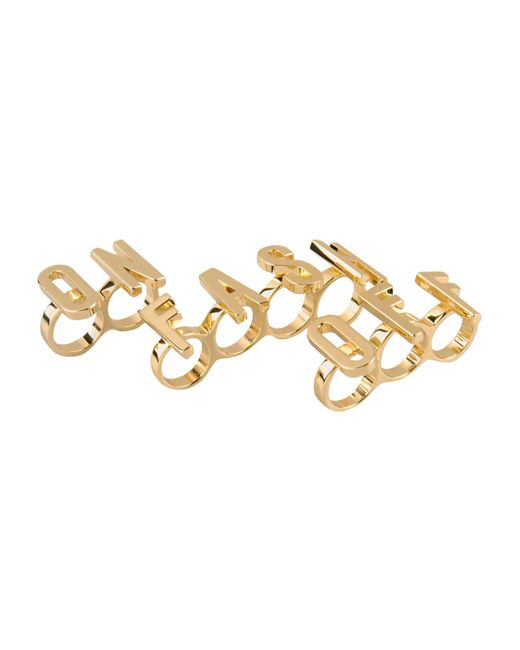 Moschino - Metallic Rings - Lyst
