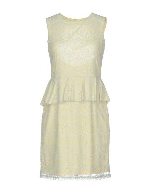 Traffic People - Yellow Short Dress - Lyst