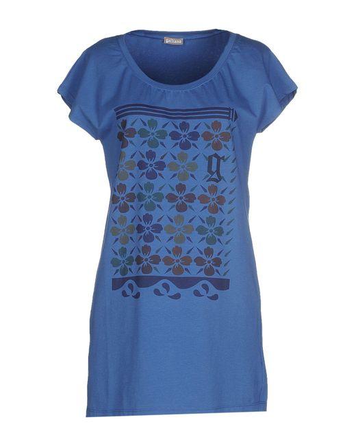John Galliano - Blue T-shirt - Lyst