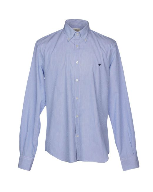Brooksfield - Blue Shirts for Men - Lyst