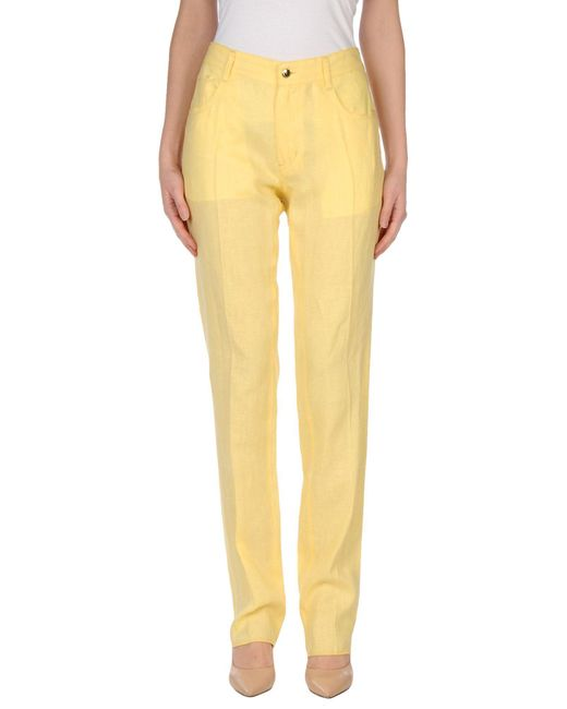 Just Cavalli - Yellow Casual Trouser - Lyst