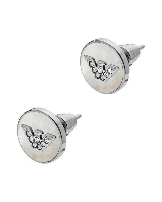 Emporio Armani - White Earrings - Lyst