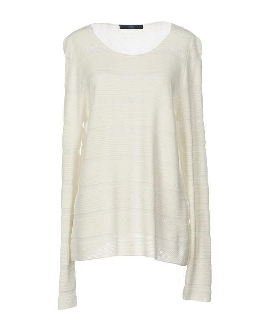 Blue Les Copains - White Sweaters - Lyst