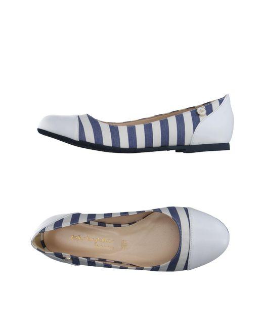 Blu Byblos - White Ballet Flats - Lyst