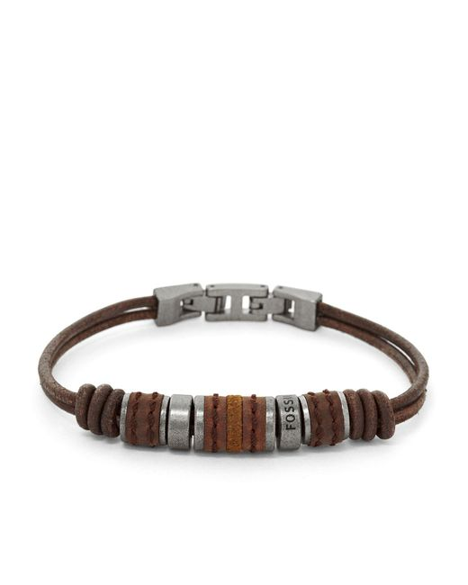 Fossil - Brown Bracelet for Men - Lyst