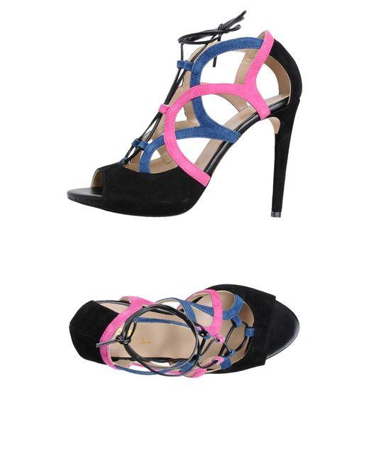 Jolie By Edward Spiers | Black Sandals | Lyst