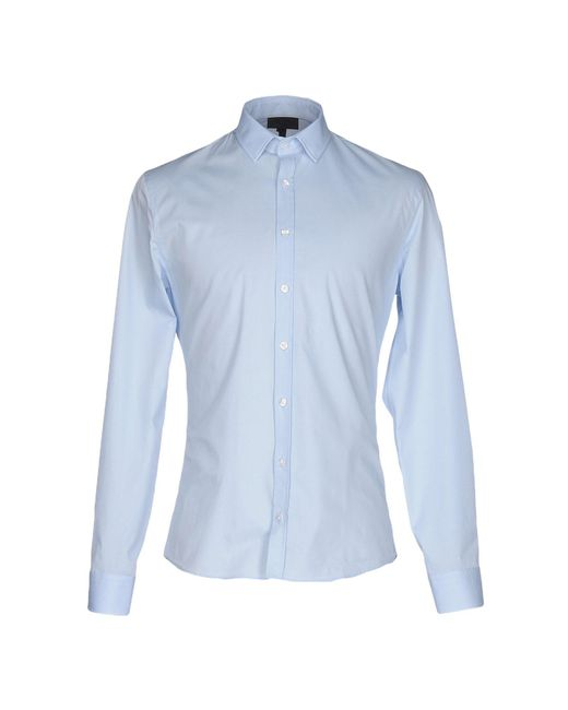 Les Hommes - Blue Shirt for Men - Lyst